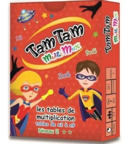 Tam tam multimax : les tables de multiplication de x2 à x9 : niveau 2