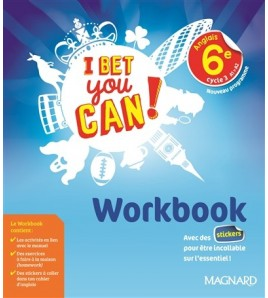 9782210107861-I bet you can ! anglais 6e, cycle 3, A1-A2 : workbook : nouveau programme